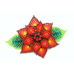 Beaded Barrette large flower style handmade in  Guatemala