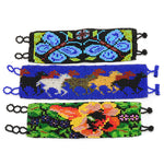 Bracelet maya Guatemala nature design glass beads