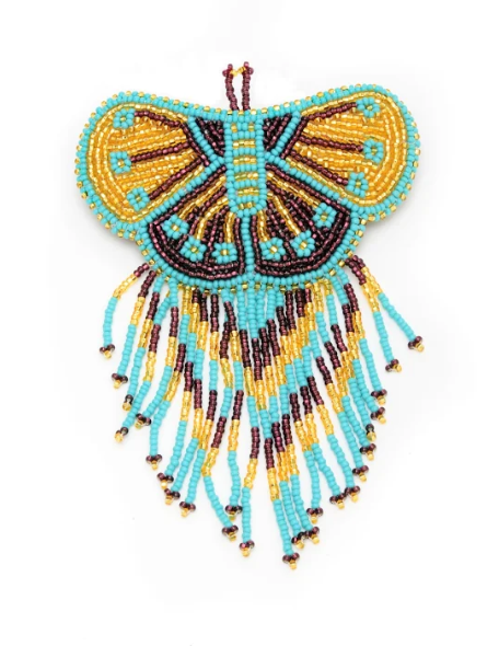 Beaded butterfly barretted handmade in Guatemala