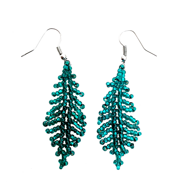 Feather / Leaf Earrings - Assorted Colors