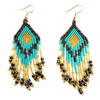 Triangle Fringe Earrings - Large - Assorted Colors