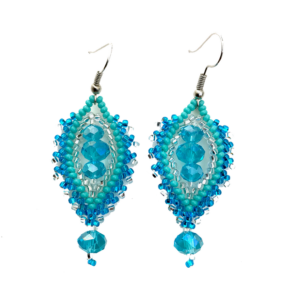 Arabic earring beaded handmade by Maya in Guatemala