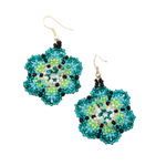 beaded flower earrings handmade in Guatemala