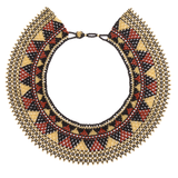 Egyptian collar beaded necklace handmade in Guatemala