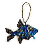 Beaded Fish Ornament handmade in Guatemala