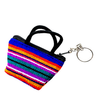 Market pouch style keychain Handmade in Guatemala