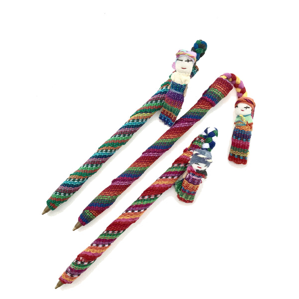 worry doll pen handmade in Guatemala
