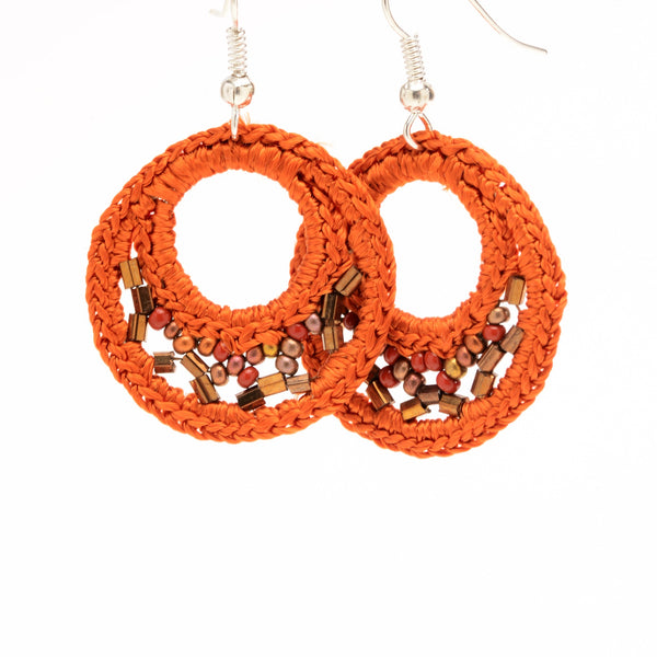 Crochet Hoop Earrings - Small - Assorted Colors