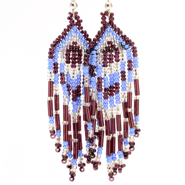 Triangle Fringe Earrings - Medium - Assorted Colors