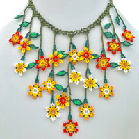 Floracita vine necklaces handmade in Guatemala, beaded