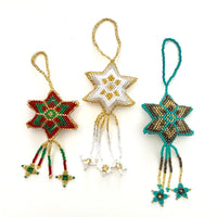 Beaded star ornament handmade in Guatemala