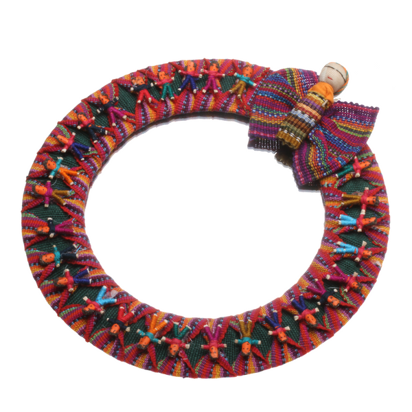 Worry doll mirror handmade in guatemala