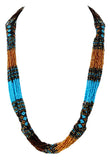 Beaded zulu necklace handmade in Guatemala