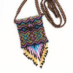 Beaded bag necklace handmade in Guatemala