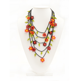 Beaded Floracita necklace handmade in Guatemala