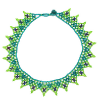 Beaded small lace necklace handmade in Guatemala