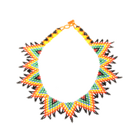 Beaded Nativo volcano necklace handmade in guatemala