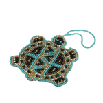 Beaded turtle ornament handmade in Guatemala