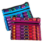 Three zip pouch 6 x 4.5 inches handmade in Guatemala