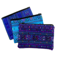Large Todos Santos Pouch - Blues, Turquoise,  Red-violet