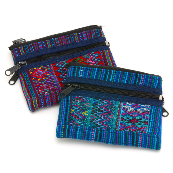 Coin Pouch Todos Santos - Blues, Turquoise, Red-Violet