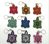 Keychain Turtle Flat - Assorted Colors