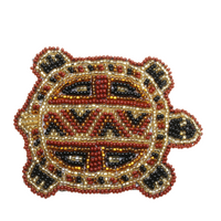beaded turtle magnet handmade in Guatemala
