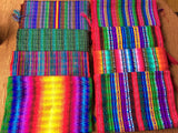 Scarves Cotton handmade Guatemala colorful striped