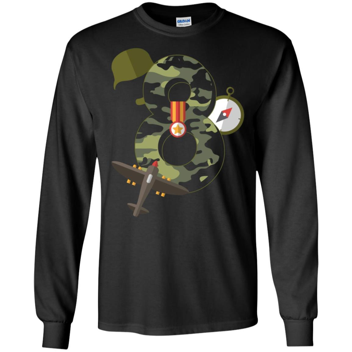 0adea937 ... Load image into Gallery viewer, 8th Birthday Camouflage Hero Army  Soldier T-shirt ...