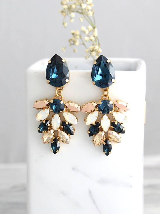 Blue Navy Earrings