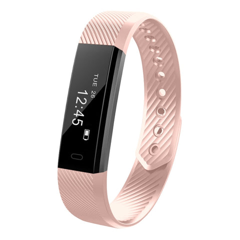 Pink Fitness Tracker w/ Heart Rate Monitor