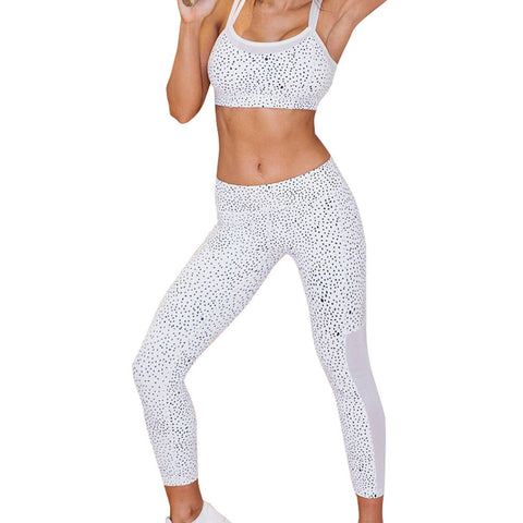 White Speckle Yoga Leggings