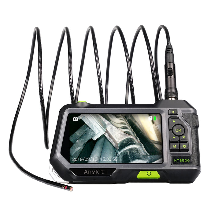 Dual Lens Endoscope Inspection Camera-Anykit NTS500 Waterproof Borescope Snake Inspection Tube Camera with 5