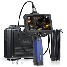 "Anykit Handheld Industrial Endoscope Camera-Waterproof Borescope w/4.3""/1080P HD Resolution Screen, 2600mAh Battery, 0.21 Inch Snake Inspection Camera Probe Tiped with 6 Adjustable LED Lights."