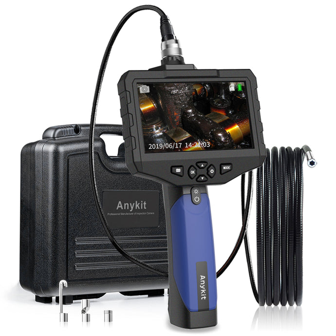Anykit Handheld Industrial Endoscope Camera-Waterproof Borescope w/4.3