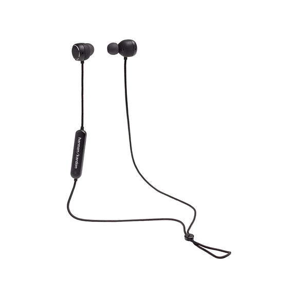 Harman Kardon Fly BT in-Ear Wireless Bluetooth Headphone with 8 Hrs of Playtime, Tangle Free Fabric Cable & IPX5 Waterproof