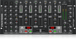 Behringer PRO MIXER VMX1000USB Professional 7-Channel Rack-Mount DJ Mixer with USB/Audio Interface, BPM Counter and VCA Control