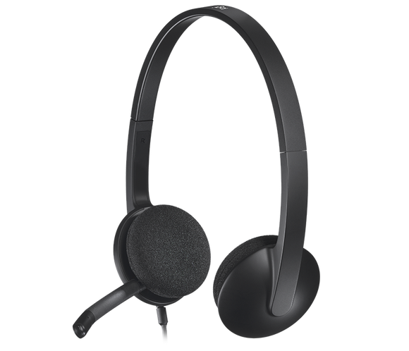 Logitech Wired headphone  With Mic  H340