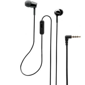 Sony MDR-EX155AP Wired Earphone with Tangle Free Cable, 3.5mm Jack, Headset with Mic for Phone Calls and