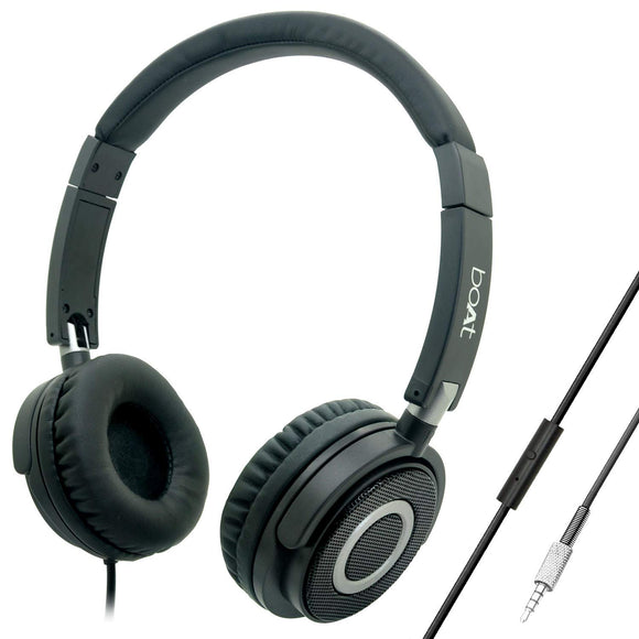 Boat Bass Heads Wired Headphone with Mic  910