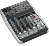 Behringer XENYX Q802USB Premium 8-Input 2-Bus Mixer with XENYX Mic Preamps & Compressors, British EQs and USB/Audio Interface