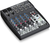 Behringer Xenyx 802 Premium 8-Input 2-Bus Mixer with Xenyx Mic Preamps and British EQs,