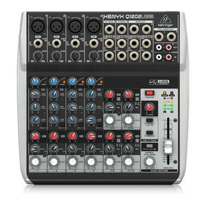 Behringer  XENYX Q1202USB   Premium 12-Input 2-Bus Mixer with XENYX Mic Preamps & Compressors, British EQs and USB/Audio Intput