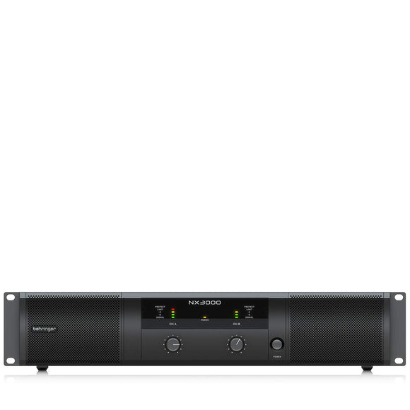 Behringer NX3000 Ultra-Lightweight 3000-Watt Class-D Power Amplifier with SmartSense Loudspeaker Impedance Compensation with 2 x 1500 Watts into 2 Ohms; 2 x 900 Watts into 4 Ohms; 3000 Watts into 4 Ohms