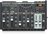 Behringer EUROPORT PPA200 Ultra-Compact 200-Watt 5-Channel Portable PA System with Wireless Microphone Option, KLARK TEKNIK Multi-FX Processor and FBQ Feedback Detection