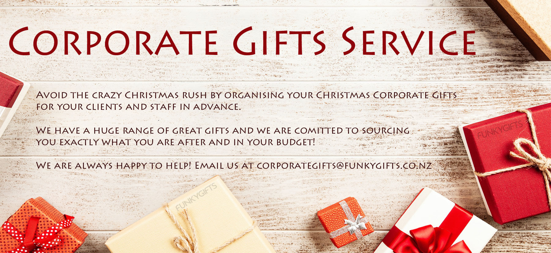 Corporate Gifts Service NZ