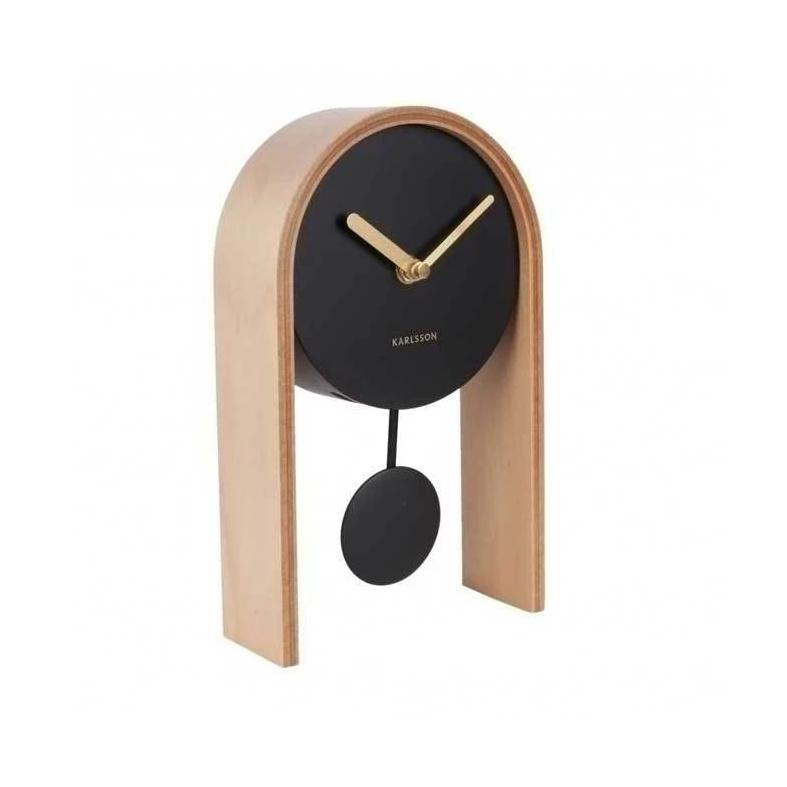 Karlsson Smart Table Clock Light Wood