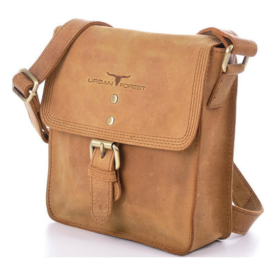 Urban Forest Little Joe Leather Body Bag - Cognac