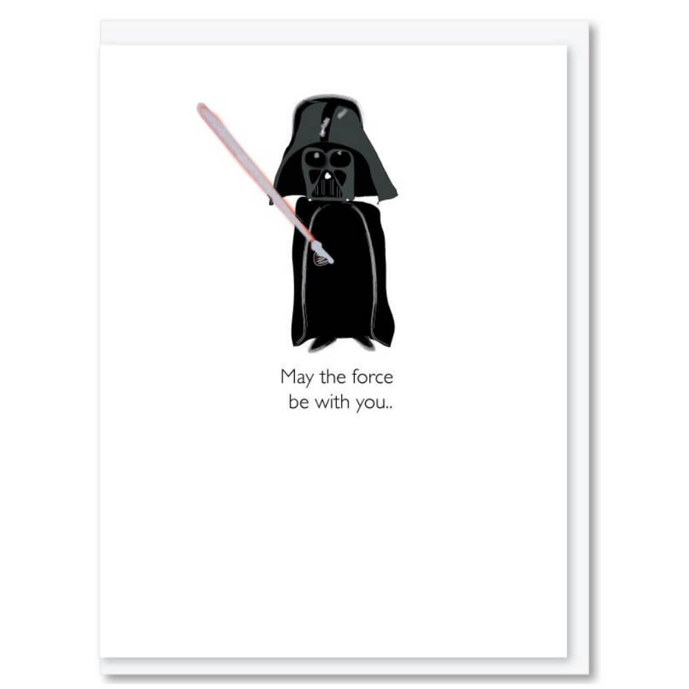 NZ MADE GREETING CARD - May The Force Be With You