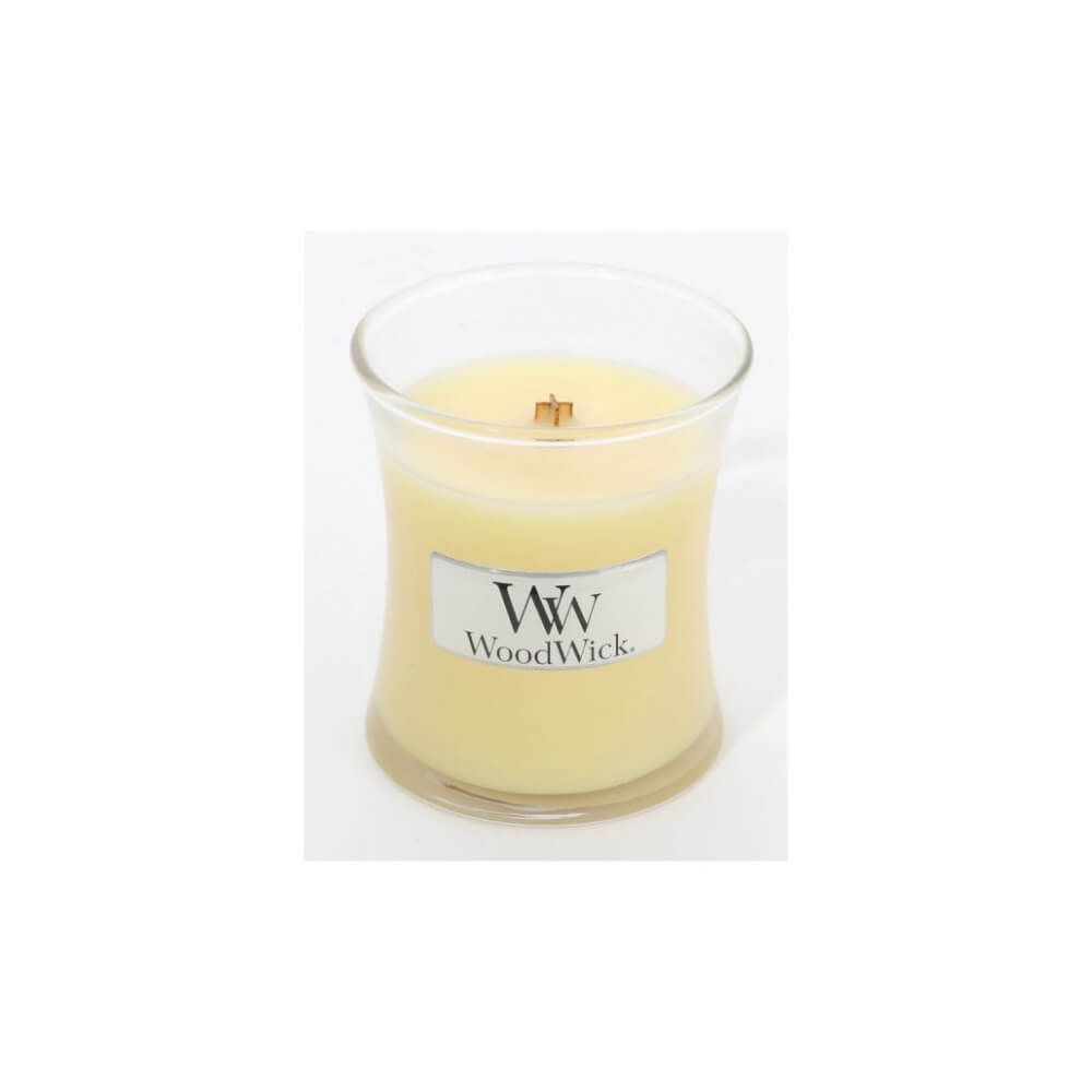 Small Lemongrass and Lily Scented WoodWick Soy Candle